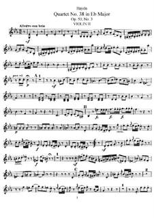 Streichquartett Nr.38 in Es-Dur, Hob.III/46 Op.50 No.3: Violinstimme II by Joseph Haydn