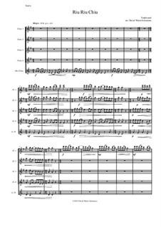 Riu Riu Chiu arranged: For flute quintet (4 flutes and 1 alto flute) by folklore