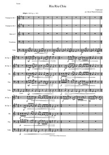 Riu Riu Chiu arranged: Für Blechblasquintett by folklore