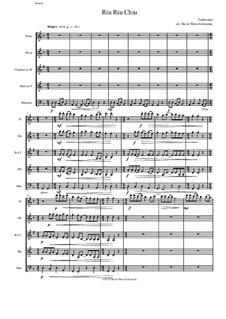 Riu Riu Chiu arranged: For wind quintet by folklore