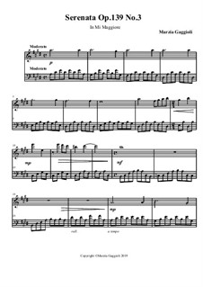 Serenatas, Op.139: Serenata No.3 in Mi Maggiore by Marzia Gaggioli