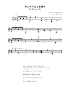 Mary Had a Baby: Für Gitarre by folklore