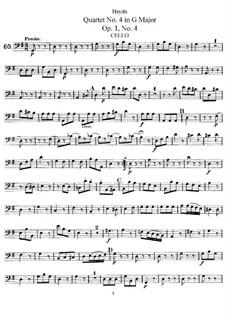 Streichquartett Nr.4 in G-Dur, Hob.III/4 Op.1 No.4: Cellostimme by Joseph Haydn