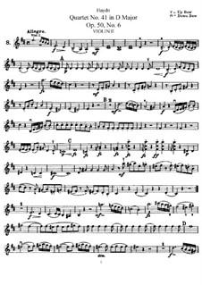 Streichquartett Nr.41 in D-Dur, Hob.III/49 Op.50 No.6: Violinstimme II by Joseph Haydn