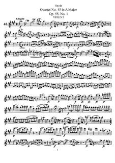 Streichquartett Nr.45 in A-Dur, Hob.III/60 Op.55 No.1: Violinstimme I by Joseph Haydn