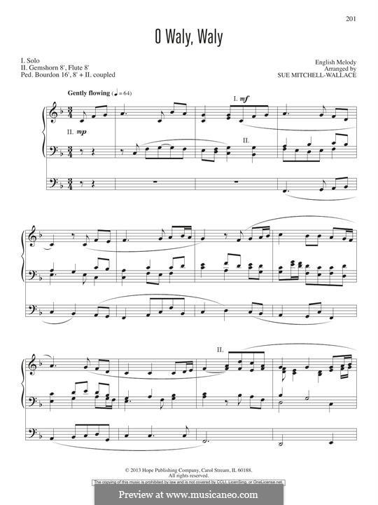 O Waly, Waly: Für Orgel by folklore