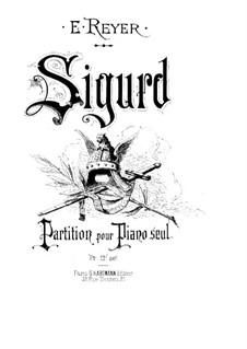 Sigurd: Bearbeitung für Klavier by Ernest Reyer