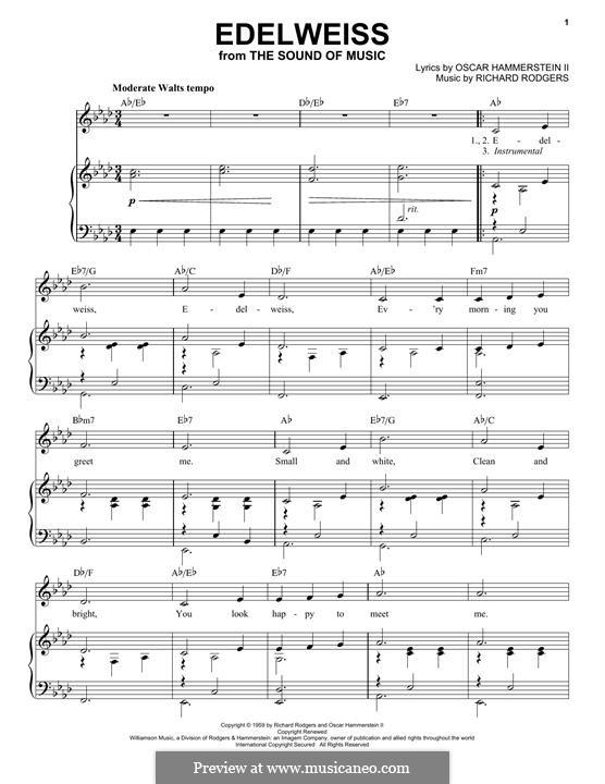 Edelweiss (from The Sound of Music): Für Stimme und Klavier by Richard Rodgers