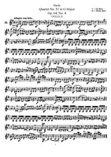 Streichquartett Nr.51 in G-Dur, Hob.III/66 Op.64 No.4: Violinstimme II by Joseph Haydn