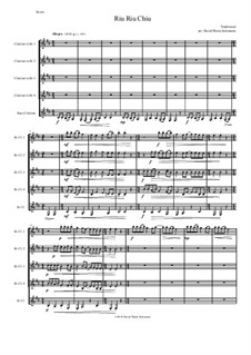 Riu Riu Chiu arranged: For clarinet quintet by folklore