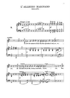 L'allegro marinare: Für Stimme und Klavier by Vincenzo Bellini