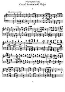 Grosse Sonate für Klavier, TH 139 Op.37: Für einen Interpreten by Pjotr Tschaikowski