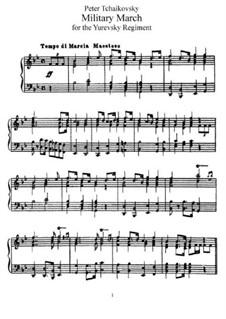 Militärmarsch, TH 150: Für Klavier by Pjotr Tschaikowski