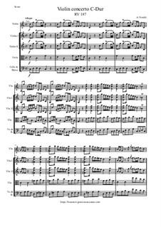 Violin concerto C-Dur, RV 187: Violin concerto C-Dur by Antonio Vivaldi