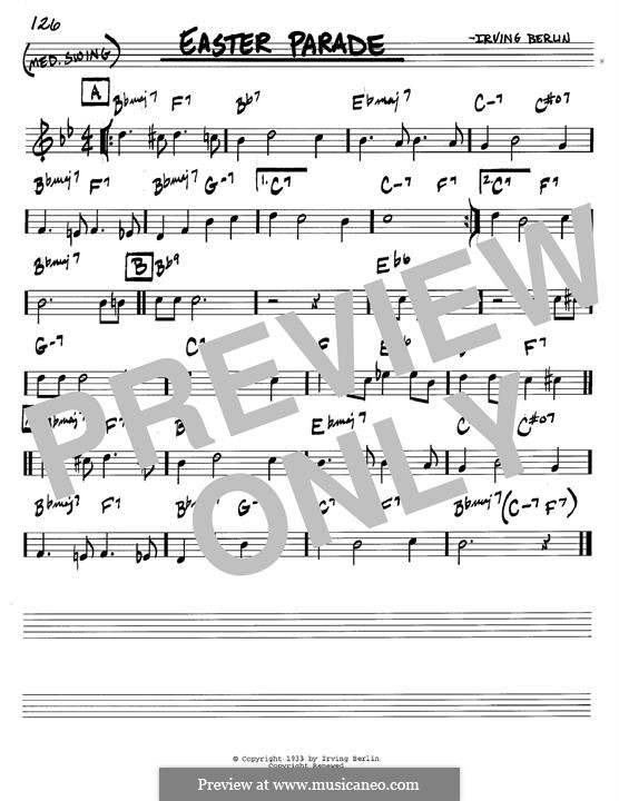 Easter Parade: For instrument in B Flat by Irving Berlin