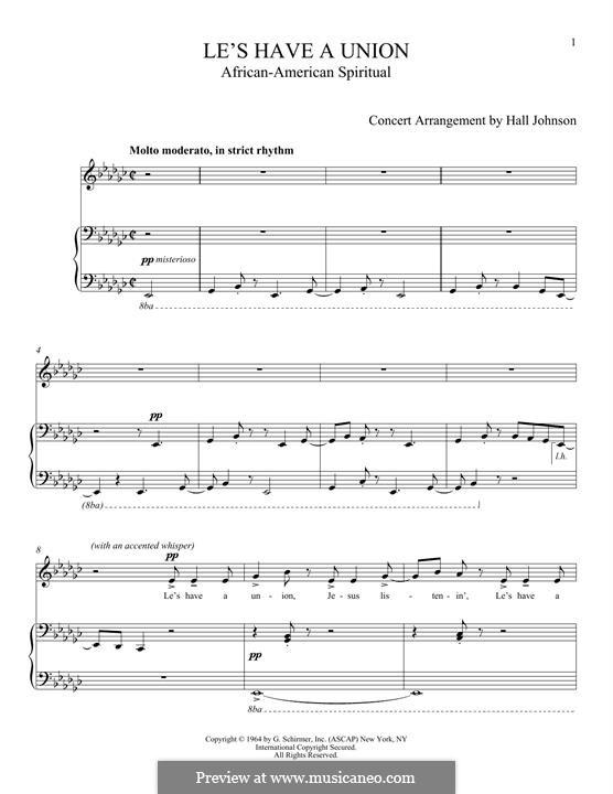 Le's Have a Union: Für Stimme und Klavier by folklore