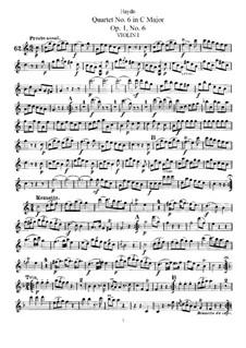 Streichquartett Nr.6 in C-Dur, Hob.III/6 Op.1 No.6: Violinstimme I by Joseph Haydn