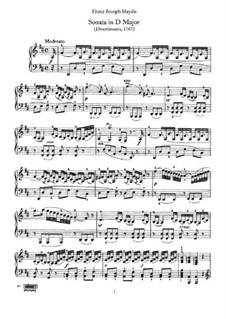 Sonate für Klavier Nr.30 in D-Dur, Hob.XVI/19: Für einen Interpreten by Joseph Haydn
