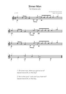 Sinner Man: Für Gitarre by folklore