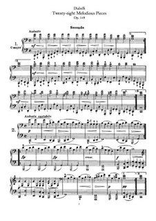 Melodische Übungsstücke für Klavier, vierhändig, Op.149: Stimmen by Anton Diabelli