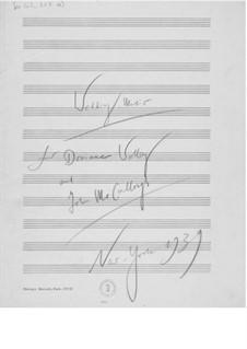 Hochzeitsmusik: Particell by Ernst Levy