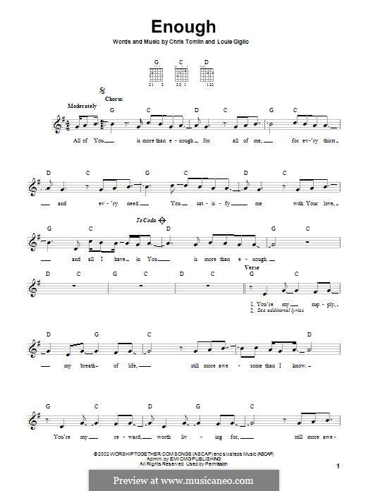 Enough: Für Gitarre by Chris Tomlin, Louie Giglio
