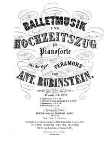 Feramors: Lichtertanz der Braüte von Kaschmir, für zwei Klaviere, achthändig – Klavierstimme I by Anton Rubinstein