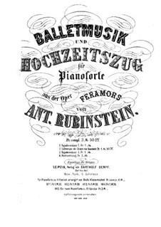Feramors: Lichtertanz der Braüte von Kaschmir, für zwei Klaviere, achthändig – Klavierstimme II by Anton Rubinstein