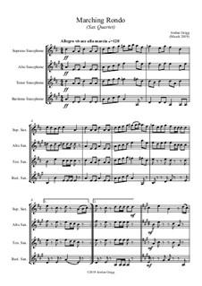 Marching Rondo: Für Saxophonquartett by Jordan Grigg