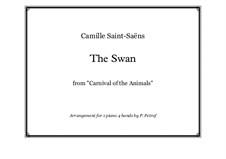 Der Schwan: Für Klavier, vierhändig by Camille Saint-Saëns