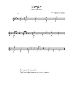 Trampin': For guitar solo (B Flat Major) by folklore