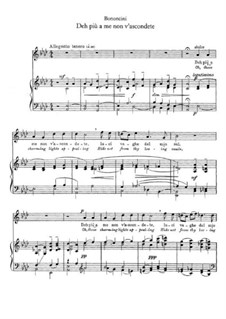 Deh più a me non v'ascondete: Für Stimme und Klavier by Giovanni Maria Bononcini