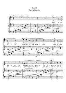 Fere selvaggie: Klavierauszug mit Singstimmen by Giulio Caccini
