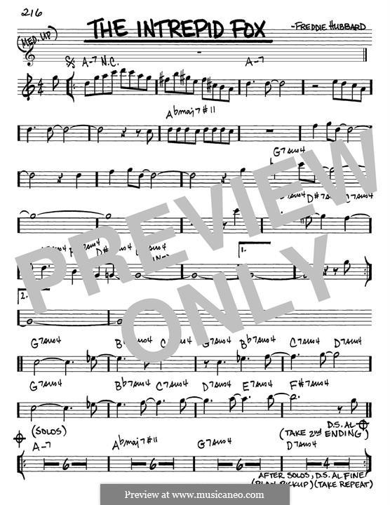The Intrepid Fox: Für Gitarre by Freddie Hubbard