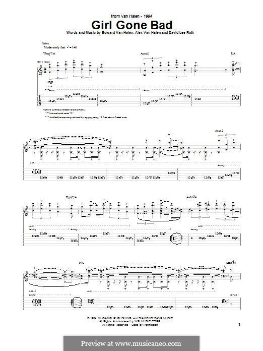 Girl Gone Bad (Van Halen): Für Gitarre mit Tabulatur by Alex Van Halen, David Lee Roth, Edward Van Halen