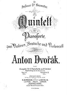 Klavierquntett Nr.2 in A-Dur, B.155 Op.81: Version für zwei Klaviere, vierhändig by Antonín Dvořák