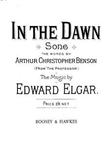 Zwei Lieder, Op.41: No.1 In the Dawn by Edward Elgar