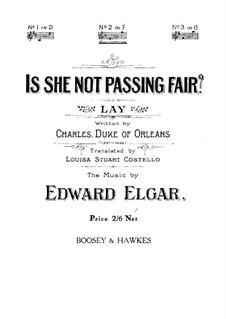 Is She Not Passing Fair: Is She Not Passing Fair by Edward Elgar