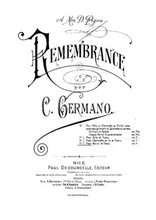 Remembrance for Violin and Piano: Remembrance for Violin and Piano by Carlo Germano