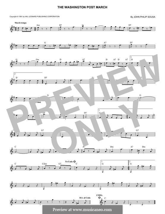 Washington Post March: Trompetenstimme by John Philip Sousa