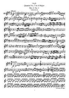 Streichquartett Nr.7 in A-Dur, Hob.III/7 Op.2 No.1: Violinstimme II by Joseph Haydn