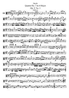 Streichquartett Nr.7 in A-Dur, Hob.III/7 Op.2 No.1: Bratschenstimme by Joseph Haydn