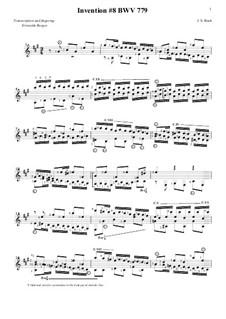 Nr.8 in F-dur, BWV 779: Für Gitarre by Johann Sebastian Bach