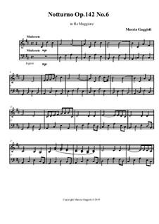 Notturnos, Op.142: Notturno No.6 in Re Maggiore by Marzia Gaggioli