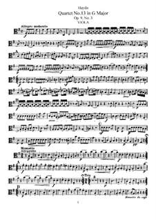 Streichquartett Nr.13 in G-Dur, Hob.III/21 Op.9 No.3: Bratschenstimme by Joseph Haydn