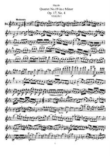 Streichquartett Nr.19 in c-Moll, Hob.III/28 Op.17 No.4: Violinstimme I by Joseph Haydn