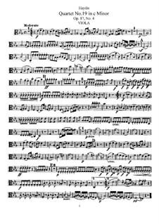 Streichquartett Nr.19 in c-Moll, Hob.III/28 Op.17 No.4: Bratschenstimme by Joseph Haydn