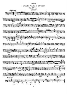 Streichquartett Nr.19 in c-Moll, Hob.III/28 Op.17 No.4: Cellostimme by Joseph Haydn