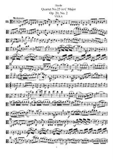 Streichquartett Nr.25 in C-Dur, Hob.III/32 Op.20 No.2: Bratschenstimme by Joseph Haydn
