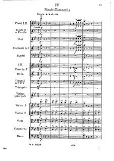 Konzertsuite für Violine und Orchester, Op.25: Teil IV by César Cui